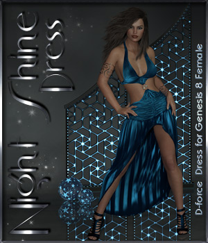 dForce Night Shine Dress for Genesis 8 Females 3D Figure Assets ilona