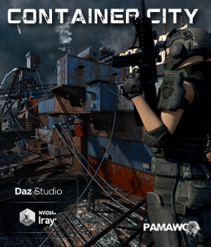 Container City For DS 3D Models pamawo