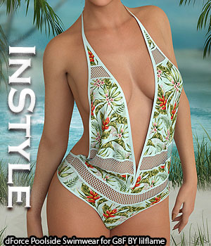 InStyle - dForce Poolside Swimwear for Genesis 8 Females