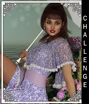 Challenge for Fiona Dress 3D Figure Assets sandra_bonello