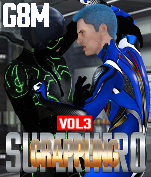 SuperHero Grappling for G8M Volume 3 3D Figure Assets GriffinFX