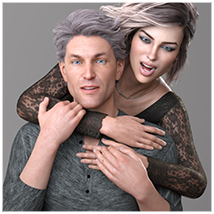Z Family Portaits - Couple and Triple Poses for Genesis 3 and 8 Male and Female image 2