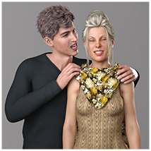 Z Family Portaits - Couple and Triple Poses for Genesis 3 and 8 Male and Female image 4