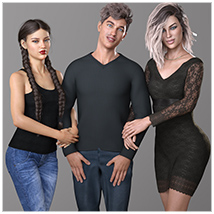 Z Family Portaits - Couple and Triple Poses for Genesis 3 and 8 Male and Female image 6