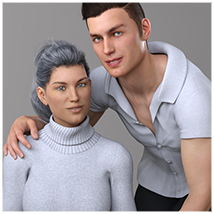 Z Family Portaits - Couple and Triple Poses for Genesis 3 and 8 Male and Female image 7