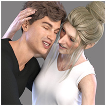 Z Family Portaits - Couple and Triple Poses for Genesis 3 and 8 Male and Female image 8