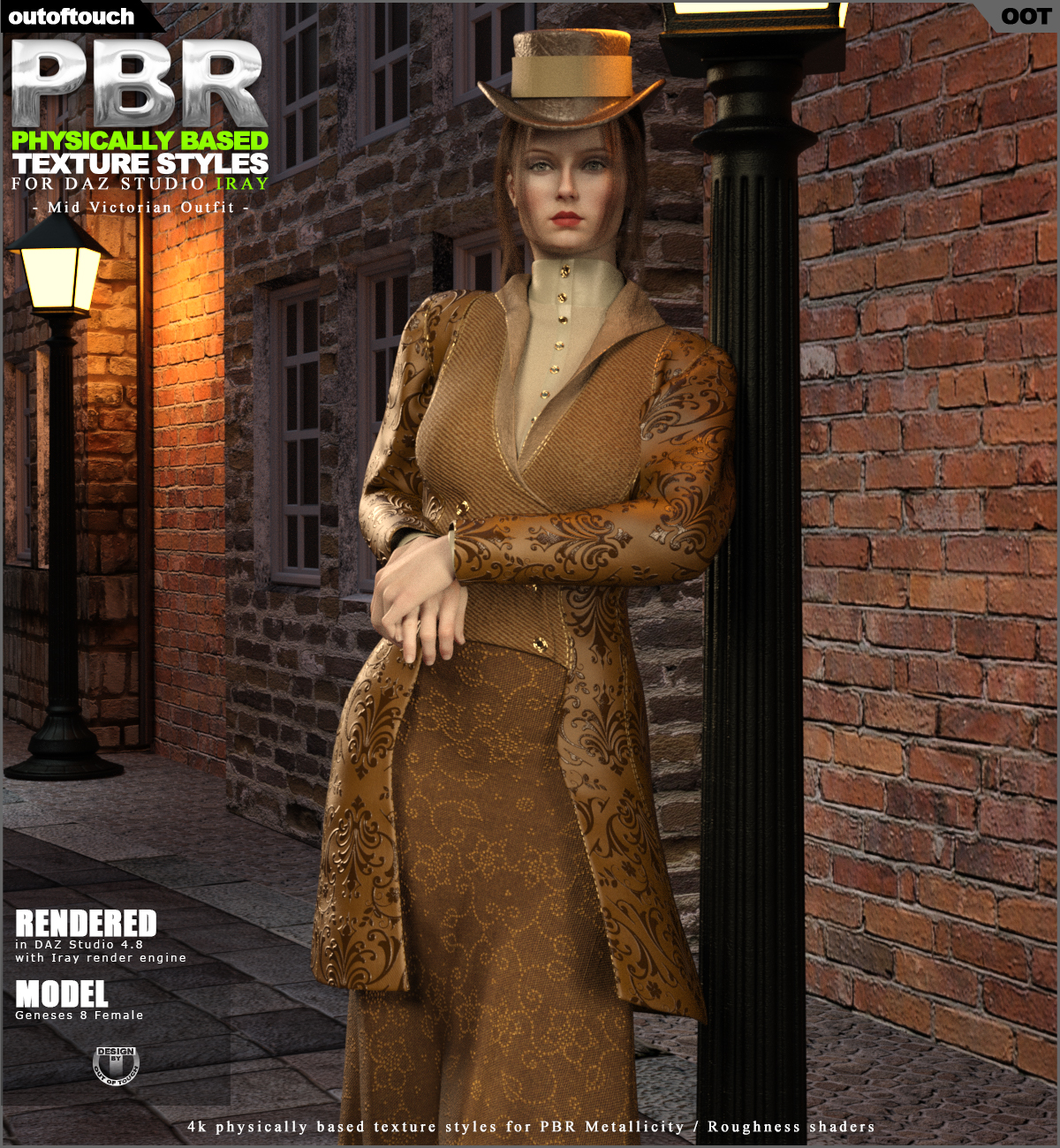 OOT PBR Texture Styles for Mid Victorian Outfit