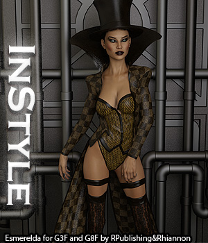 InStyle - Esmerelda for Genesis 3 and Genesis 8 Females 3D Figure Assets -Valkyrie-