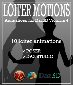 Loiter Motions for Victoria 4 3D Figure Assets AnyMatter