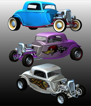 HOT ROD 1934 3D Models 3DClassics