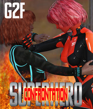SuperHero Confrontation for G2F Volume 1 3D Figure Assets GriffinFX