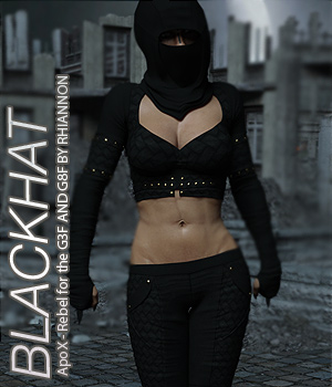 BLACKHAT - ApoX - Rebel for the Genesis 3 and Genesis 8 Females 3D Figure Assets Anagord