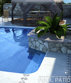 Pool Patio 3D Models lilflame