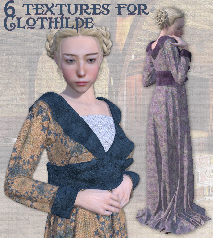 6 textures for Clothilde