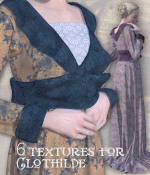 6 textures for Clothilde 3D Figure Assets Tipol