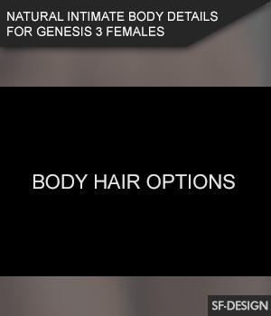 Intimate Natural Body Hair Options for Genesis 3 Females 3D Figure Assets SF-Design