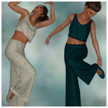 dForce - Lounging Pant Suit for G8F image 1