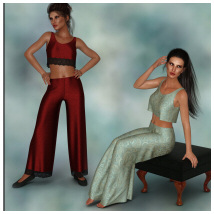 dForce - Lounging Pant Suit for G8F image 2