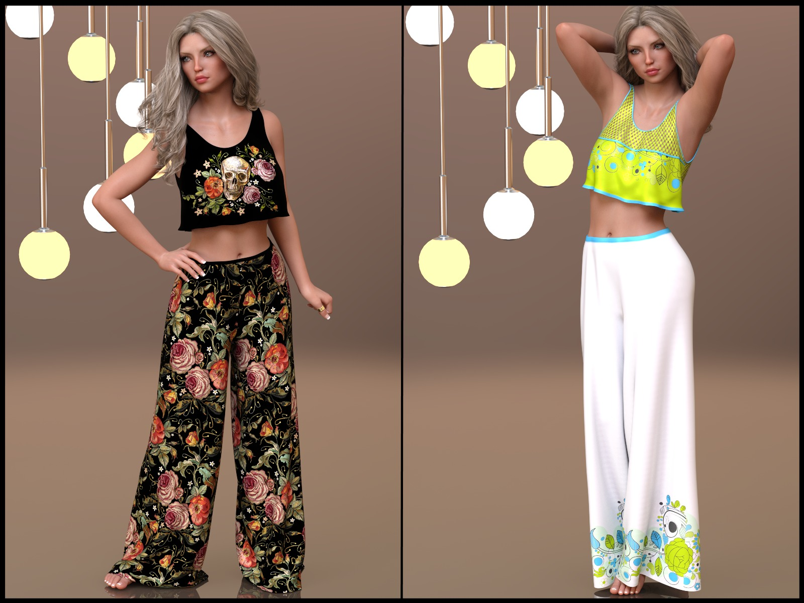 7th Ave: dForce - Lounging Pants Suit for G8F by 3-DArena