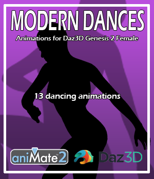 Modern Dances for G2F 3D Figure Assets AnyMatter