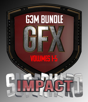 SuperHero Impact Bundle for G3M 3D Figure Assets GriffinFX