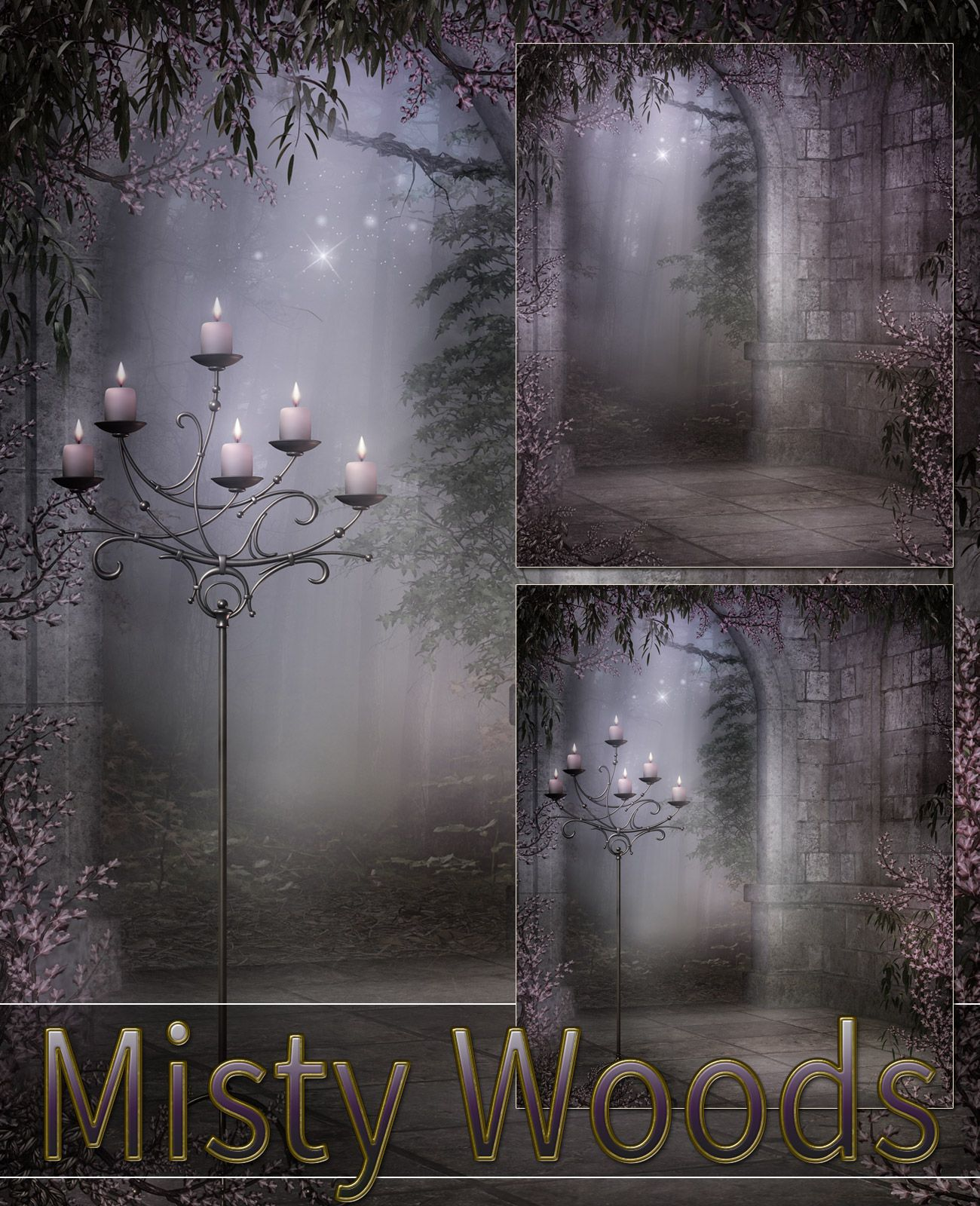 Misty Woods Backgrounds