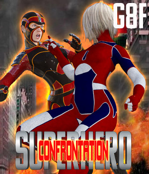 SuperHero Confrontation for G8F Volume 1 3D Figure Assets GriffinFX