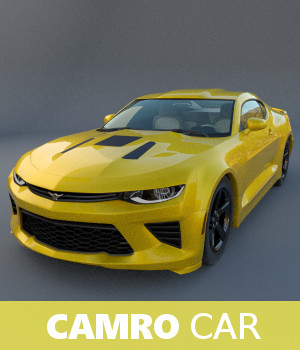 Camro Car 3D Models TruForm