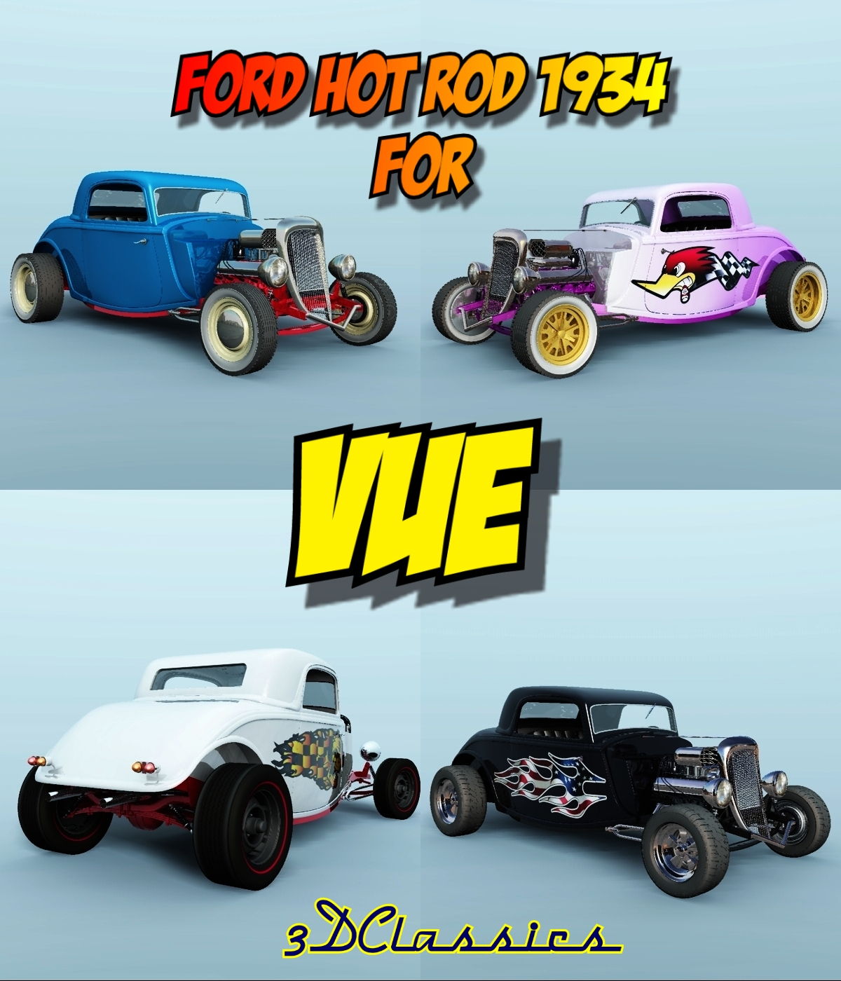 FORD HOT ROD 1934 for VUE by 3DClassics