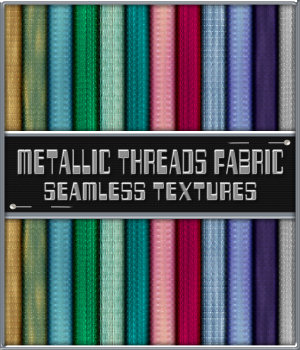 Metallic Threads Fabric Seamless Texture Pack 2D Graphics Merchant Resources fractalartist01
