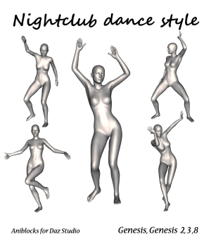 Nightclub dance style by LifeMotion 3D Figure Assets LifeMotion