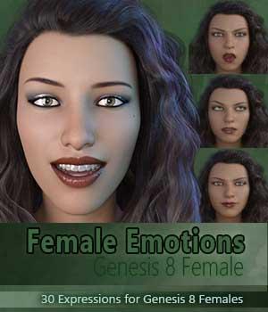 Female Emotions for Genesis 8 3D Figure Assets aeris19