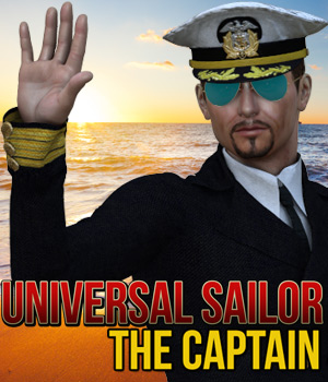 Universal Sailor - The Captain 3D Figure Assets Cybertenko