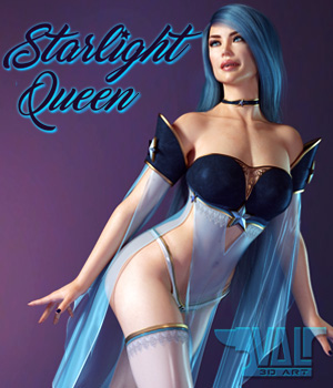 Starlight Queen for Genesis 8 Female 3D Figure Assets Val3dArt