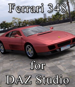 Ferrari 348T for DAZ Studio 3D Models Digimation_ModelBank