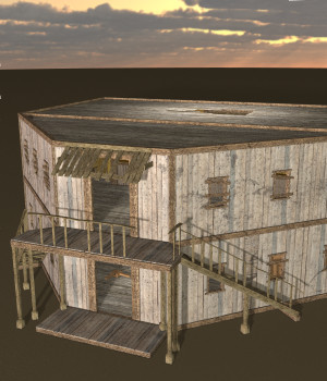 Ghost Town: Saloon for Poser 7+ 3D Models DexPac
