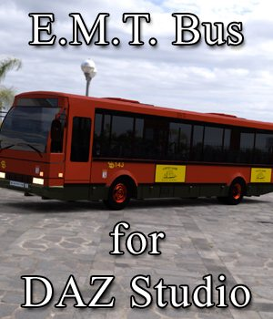 E.M.T. Bus for DAZ Studio 3D Models Digimation_ModelBank