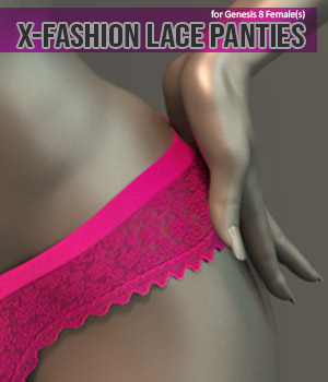X-Fashion Lace Panties for Genesis 8 Females 3D Figure Assets xtrart-3d