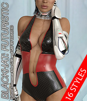 BLACKHAT:FUTURISTIC - Future Swimwear 8 for G3F and G8F 3D Figure Assets Anagord