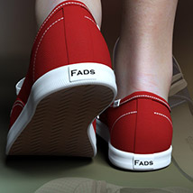 RP Fads Sneakers for Genesis 3 and Genesis 8 Females image 1