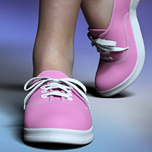 RP Fads Sneakers for Genesis 3 and Genesis 8 Females image 10