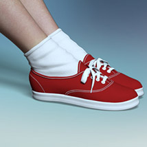RP Fads Sneakers for Genesis 3 and Genesis 8 Females image 11