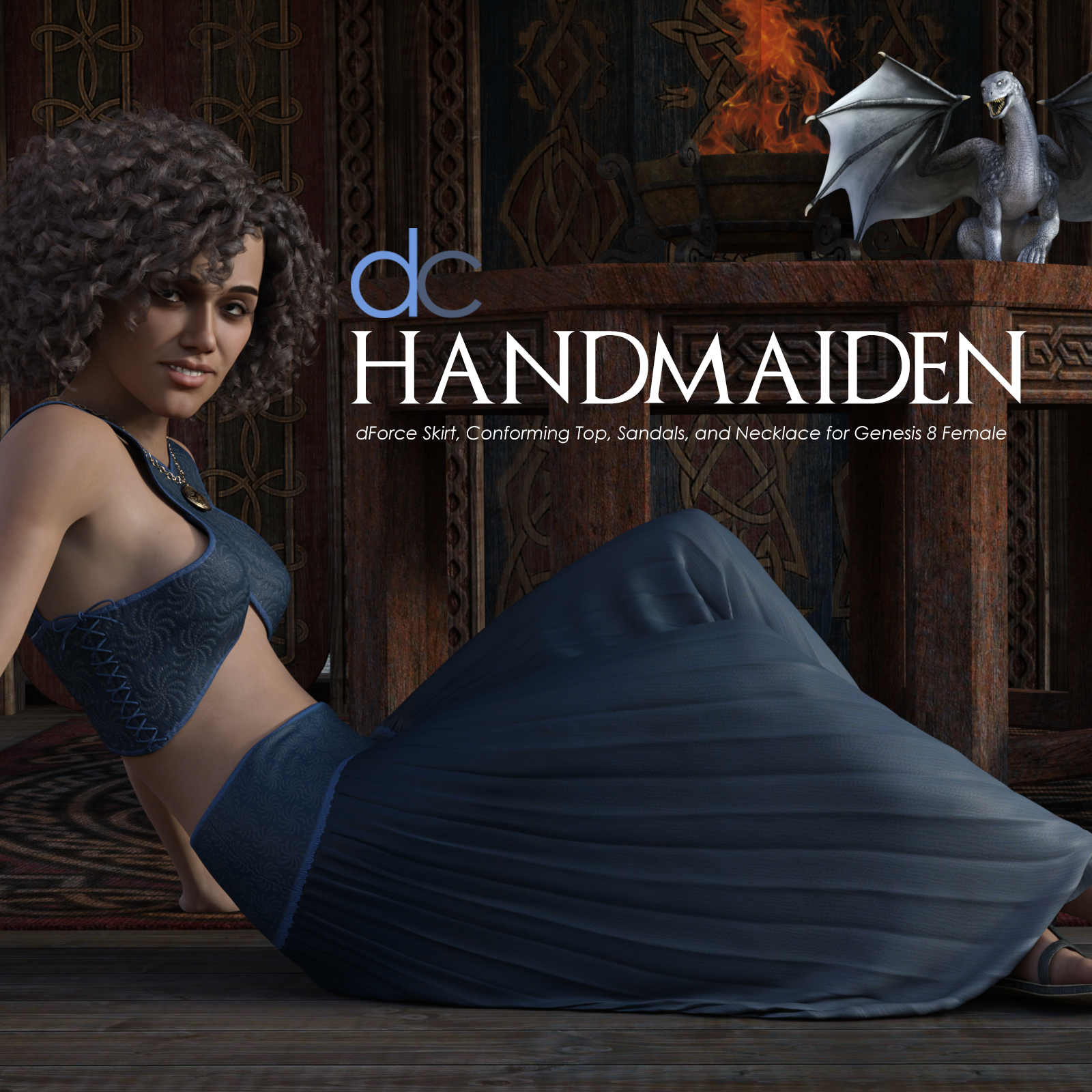 DC-HandMaiden for Genesis 8 Female