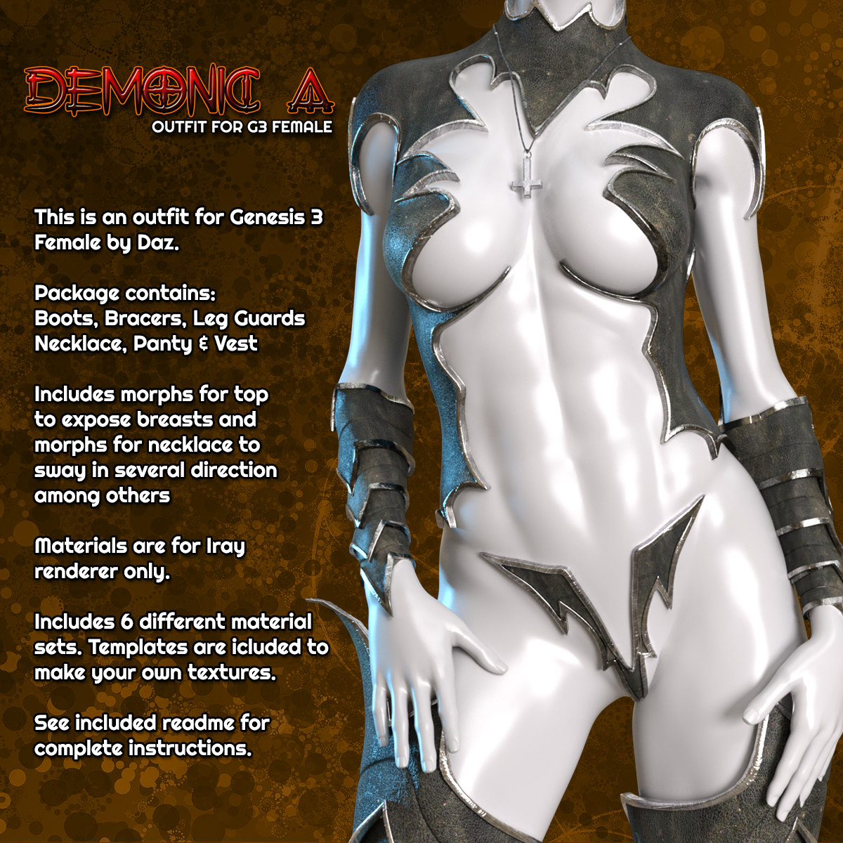Exnem Demonic A Outfit for G3 Female by exnem