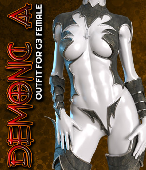 Exnem Demonic A Outfit for G3 Female 3D Figure Assets exnem