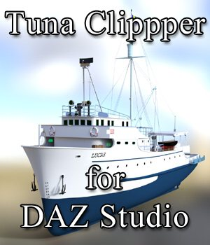 Tuna Clipper for DAZ Studio 3D Models Digimation_ModelBank