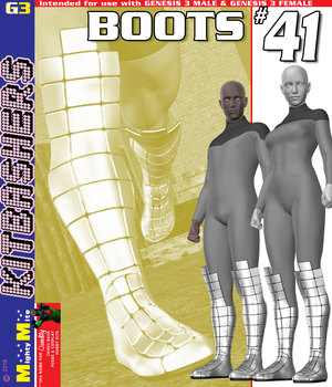 Boots 041 MMKBG3  3D Figure Assets MightyMite