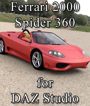 Ferrari 360 Spider 2000 for DAZ Studio  3D Models Digimation_ModelBank