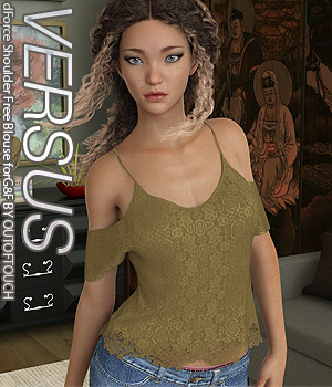 VERSUS - dForce Shoulder Free Blouse for Genesis 8 Female 3D Figure Assets Anagord