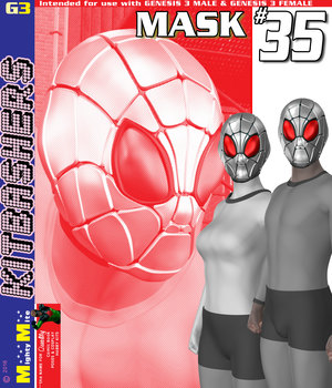 Mask 035 MMKBG3F  3D Figure Assets MightyMite
